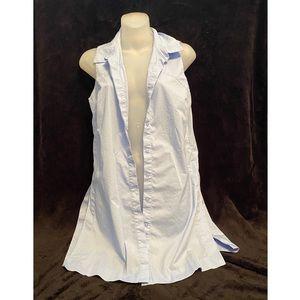Sleeveless Baby Blue Vest